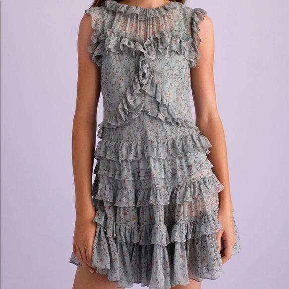 f29d58aabea97 Rebecca Taylor Sleeveless Vine Ruffle Dress 2 0034.  M 5b86b054153795cc06e5a221